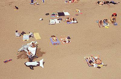 Menschen am Strand - p2600022 von Frank Dan Hofacker