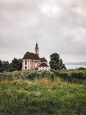 Pilgrimage church in Birnau  - p382m2233901 by Anna Matzen