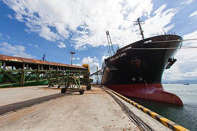 The vessel Stellar Cupid moored in Tien Sa harbor, Danang, Vietnam, Asia - p934m832700 by François Carlet-Soulages