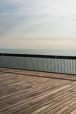 Pier on the English Channel - p1170m2020143 by Bjanka Kadic