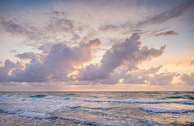 Sunset over sea - p1427m2285545 by Tom Grill