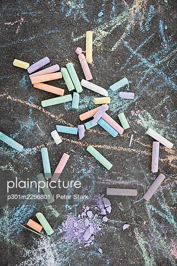 Multicolor sidewalk chalk - p301m2296801 by Peter Stark