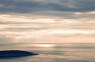 Midnight sun at North Cape - p382m2254520 by Anna Matzen