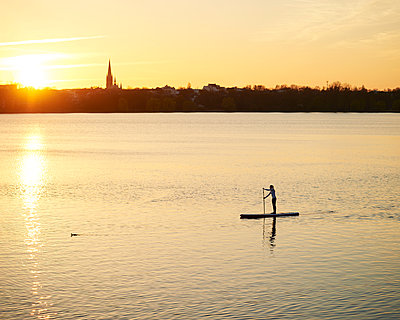 Outer Alster Lake - p1124m1011377 by Willing-Holtz