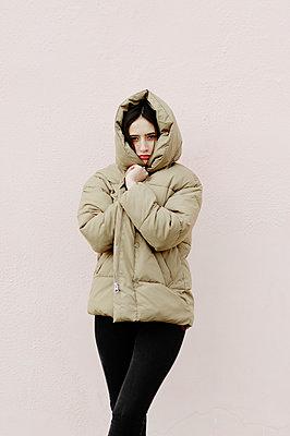 Portrait of a girl in a winter jacket - p1412m2054331 by Svetlana Shemeleva