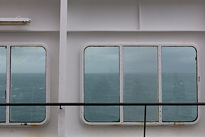 Window of a ferry - p445m931921 by Marie Docher