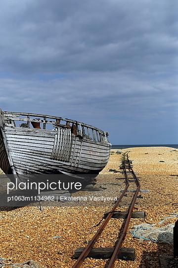Vintage wooden boat - p1063m1134982 by Ekaterina Vasilyeva