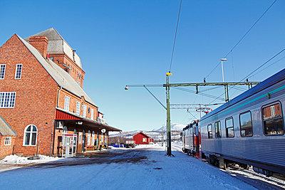 Train station at winter - p312m1407625 by Hakan Hjort