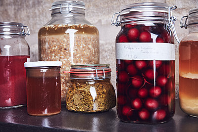 Variety of preserving jars  - p913m2134632 by LPF
