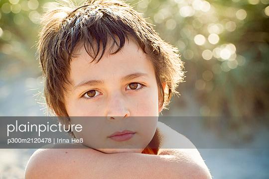 Portrait of sad boy - p300m2120478 by Irina Heß