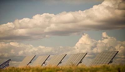 Solar panels at solar energy power plant - p1427m2292076 by Seth Joel