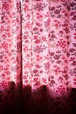 Flowered curtain - p1057m931381 by Stephen Shepherd