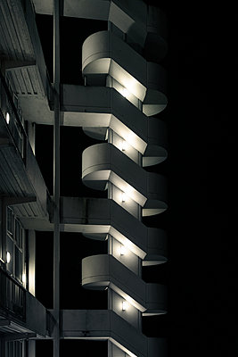 1970s illuminated outdoor staircase  - p1280m2135210 by Dave Wall