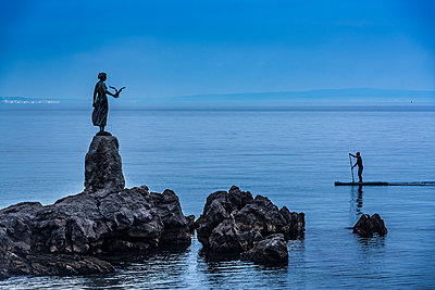 Maiden with the Seagull statue; Opatija, Primorje-Gorski Kotar County, Croatia - p442m2101119 by Dosfotos