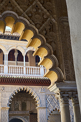 Architecture of the Alhambra in Spain - p1146m2150561 by Stephanie Uhlenbrock