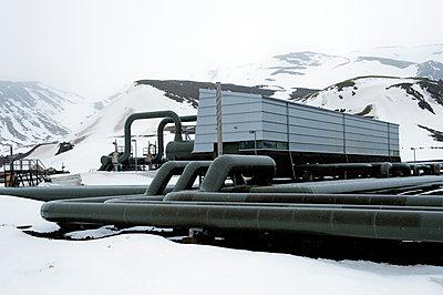 Power plant in arctic landscape - p555m1415689 by Pete Saloutos