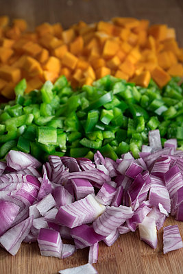 Chopped Vegetables - p1262m1200659 by Maryanne Gobble