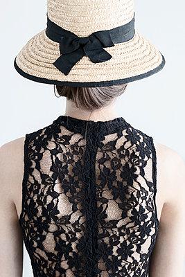 Back of Beautiful Brunette Woman - p1331m1182438 by Margie Hurwich