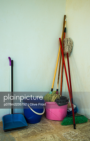 Cleaning equipment - p378m2235792 by Clive Frost