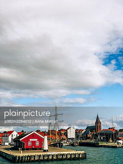 Harbour entrance in Assens on Funen - p382m2284012 by Anna Matzen