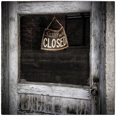Closed Sign - p1154m1082734 by Tom Hogan