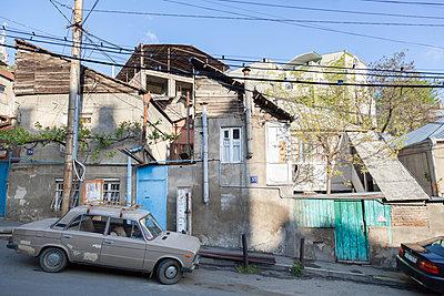 Street scene in Tiflis - p1293m1193492 by Manuela Dörr