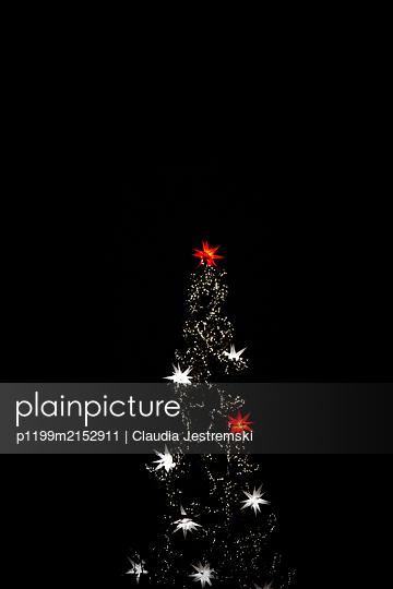 Christmas tree - p1199m2152911 by Claudia Jestremski