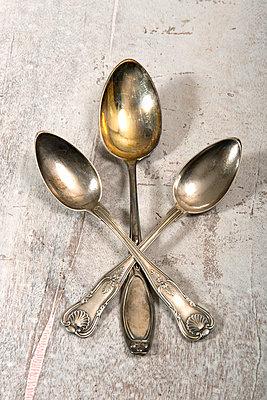 Silver spoon - p451m903665 by Anja Weber-Decker