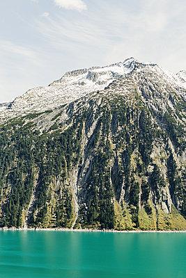 Türkiser Bergsee, Schlegeis Stausee - p1396m1502299 von Hartmann + Beese