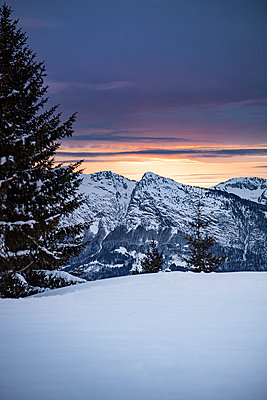 France, Sunset in the mountains - p1007m2216587 by Tilby Vattard