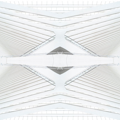 Abstract kaleidoscope pattern Liège-Guillemins station in Liège - p401m2209323 by Frank Baquet