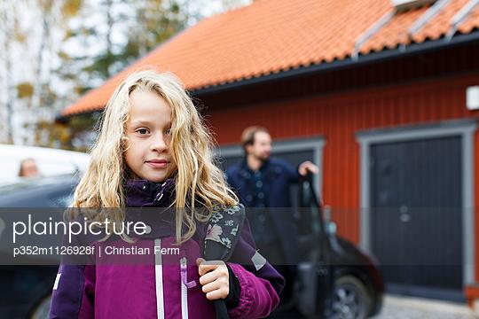 Sweden, Sodermanland, Jarna, Portrait of girl (10-11)