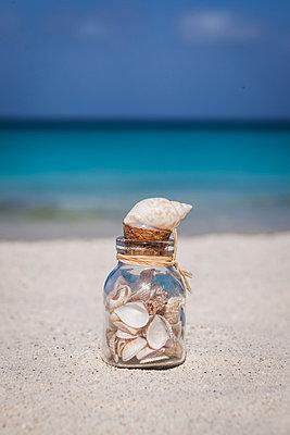 Muschelglas am Strand - p045m1559285 von Jasmin Sander