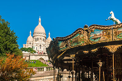 Fairground Carousel near the Basilica of the Sacre Coeur, Montmartre - p1332m1502796 by Tamboly