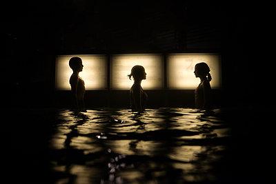 Three in Water - p1503m2015840 by Deb Schwedhelm