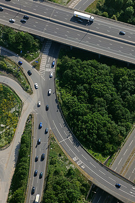Motorway junction roundabout - p1048m1135512 by Mark Wagner