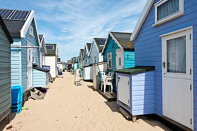 Summer Beach Huts - p1309m1133515 by Robert Lambert