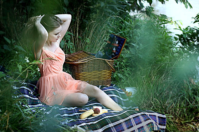 Picnic - p1019m816907 by Stephen Carroll