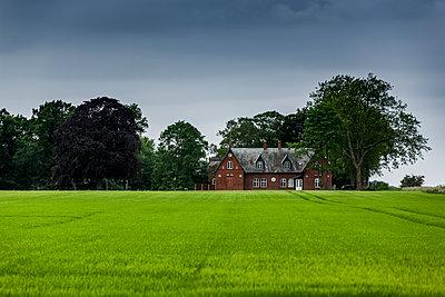 Rotes Bauernhaus in Dänemark - p248m1463016 von BY