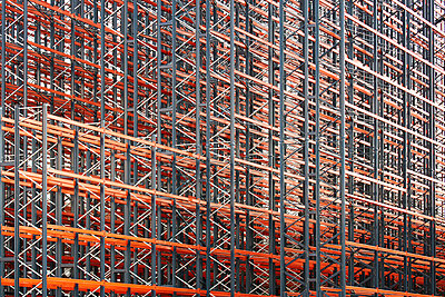 Constructing high rack storehouse - p719m1333191 by Rudi Sebastian