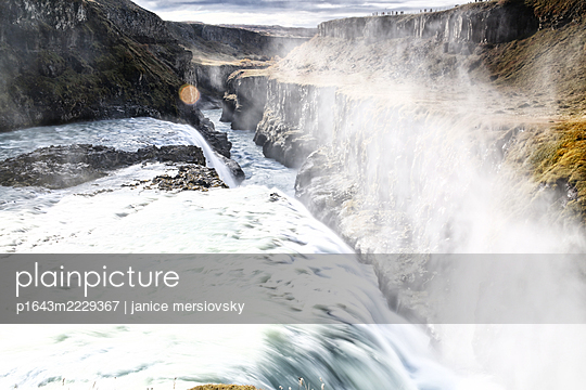 Iceland, Waterfall - p1643m2229367 by janice mersiovsky
