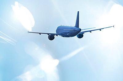 Airplane in the sky - p1250m1045039 by werner bartsch