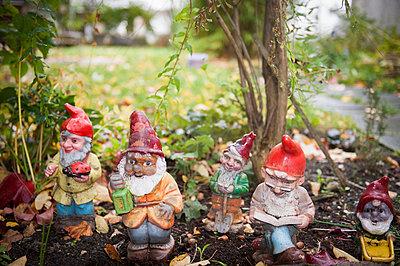 Gartenzwerge im Herbst - p830m1008245 von Schoo Flemming