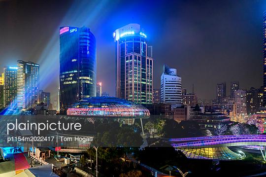 Neon City - p1154m2022417 by Tom Hogan