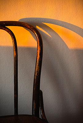 Shadow of chair backrest - p1418m1572022 by Jan Håkan Dahlström