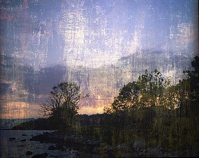 Sonnenuntergang an der Küste - p945m1195426 von aurelia frey