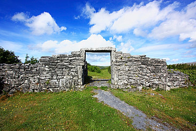 Ballyvaughan, County Clare, Ireland, Entrance to a Ringfort - p4429474f by Design Pics