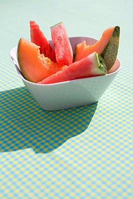 Frische Melonenscheiben - p7810006 von Angela Franke