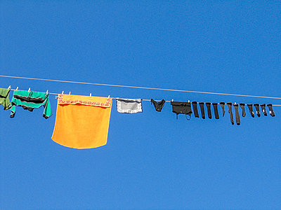 Washing on the line - p813m1222206 by B.Jaubert