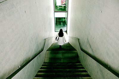 Walking Down stairs - p1082m1488005 by Daniel Allan